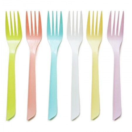 16cm Heat-resistant Fork with High Quality - Disposable spoon wholesale can be customized any color you want, 2000pcs in a carton.