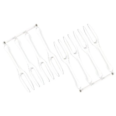 8cm Cake Fork - Plastic Disposable Fork
