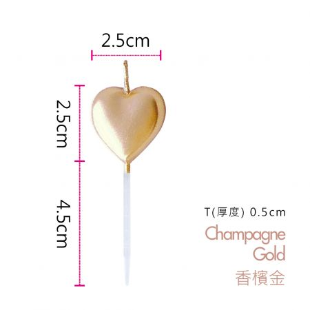Champagne Gold Heart Shaped Candle