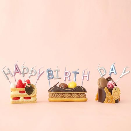 Happy Birthday Candle - Use TAIR CHU happy birthday cake candle to enjoy the cake time in birthday parties!