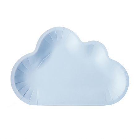 Color Cloud Shaped Cake Plate - Blue Color Paper Cake Plate