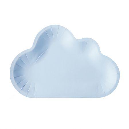 रंग बादल के आकार का केक प्लेट - ब्लू कलर पेपर केक प्लेट