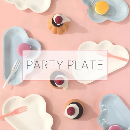 Party Cake Plate Set/Paper Plale - Cake plate set for party