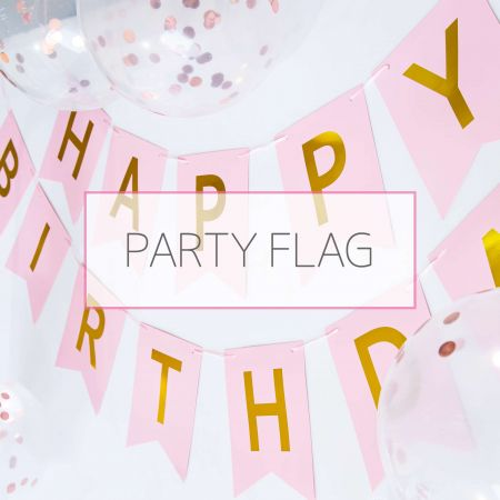 Party Flag - HBD banner for birthday party