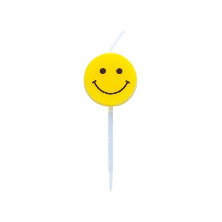 6cm Yellow Smile Face Candle - Let's use TAIR CHU yellow smiley face candle enjoy the cake time in birthday parties!