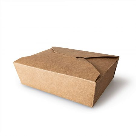 1080ml Kraft Paper Meal Box - 1080ml Kraft Paper Meal Box