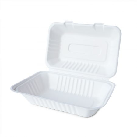 Clamshell Paper Meal Container(960ml) - 960ml Clamshell paper meal container