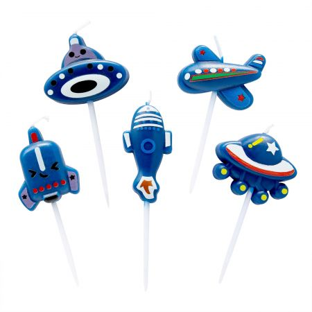 Blue AirPlane Candle - Let's use TAIR CHU blue airPlane candle in kid's birthday party!
