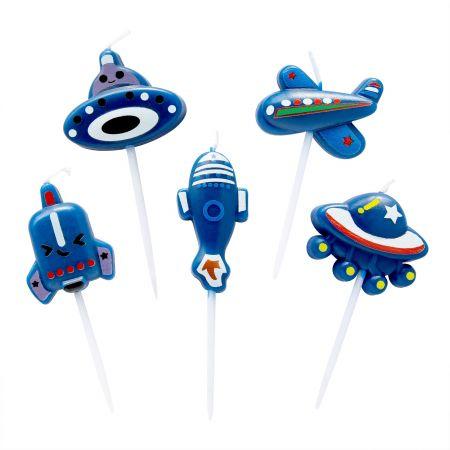 ब्लू एयरप्लेन मोमबत्ती - आइए उपयोग करें      TAIR CHU बच्चे के जन्मदिन की पार्टी में नीली हवाई जहाज की मोमबत्ती!