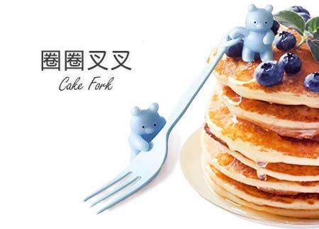 14cm Colorful Cake Fork