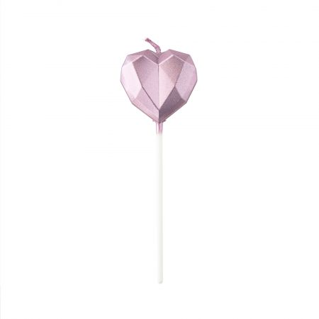 Diamond Heart Party Candle - Let's use TAIR CHU shiny heart-shaped candle enjoy the cake time in birthday parties!