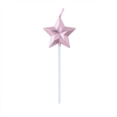 Diamond Star Cake Candle - Let's use TAIR CHU shiny star-shaped candle enjoy the cake time in birthday parties!