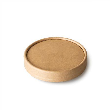 Kraft Paper Soup Cup Lid - Kraft Paper Soup Cup Lid