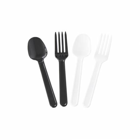 10cm Mini Sweets Cutlery Set - mini spoon and mini fork.