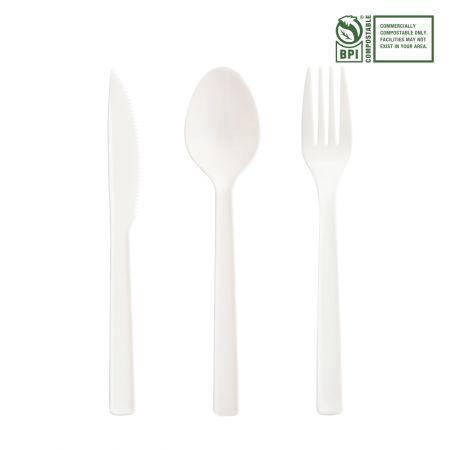 16.5cm Eco-Friendly Cutlery Set - Tair Chu CPLA Heat-resistant cutlery.