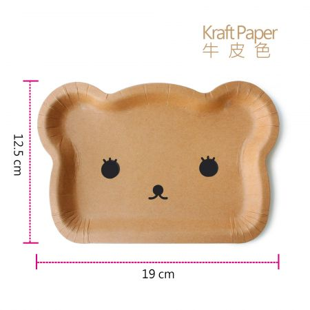 Bear Shaped Plate in KraftPaper Color