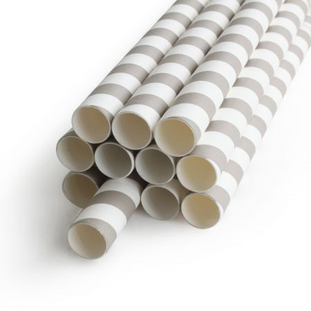 D12*L195mm Paper Straw For Bubble Tea - D:12mm Papeer Straight Straw