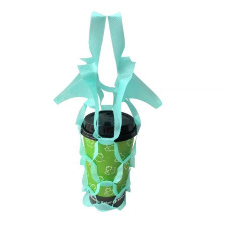 Green Coffee Net Bag - one cup - green one cup coffee take out net bag
