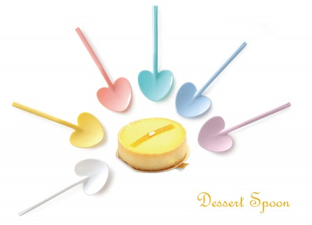 Heart Shaped Dessert Spoon