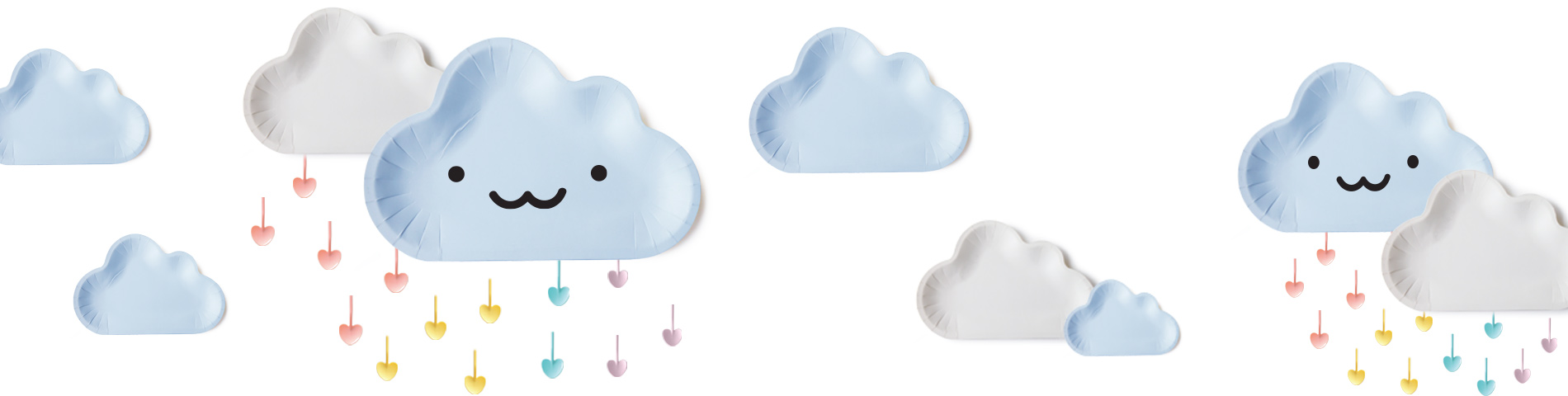 Lastest Blue Cloud Shaped Cake Plate