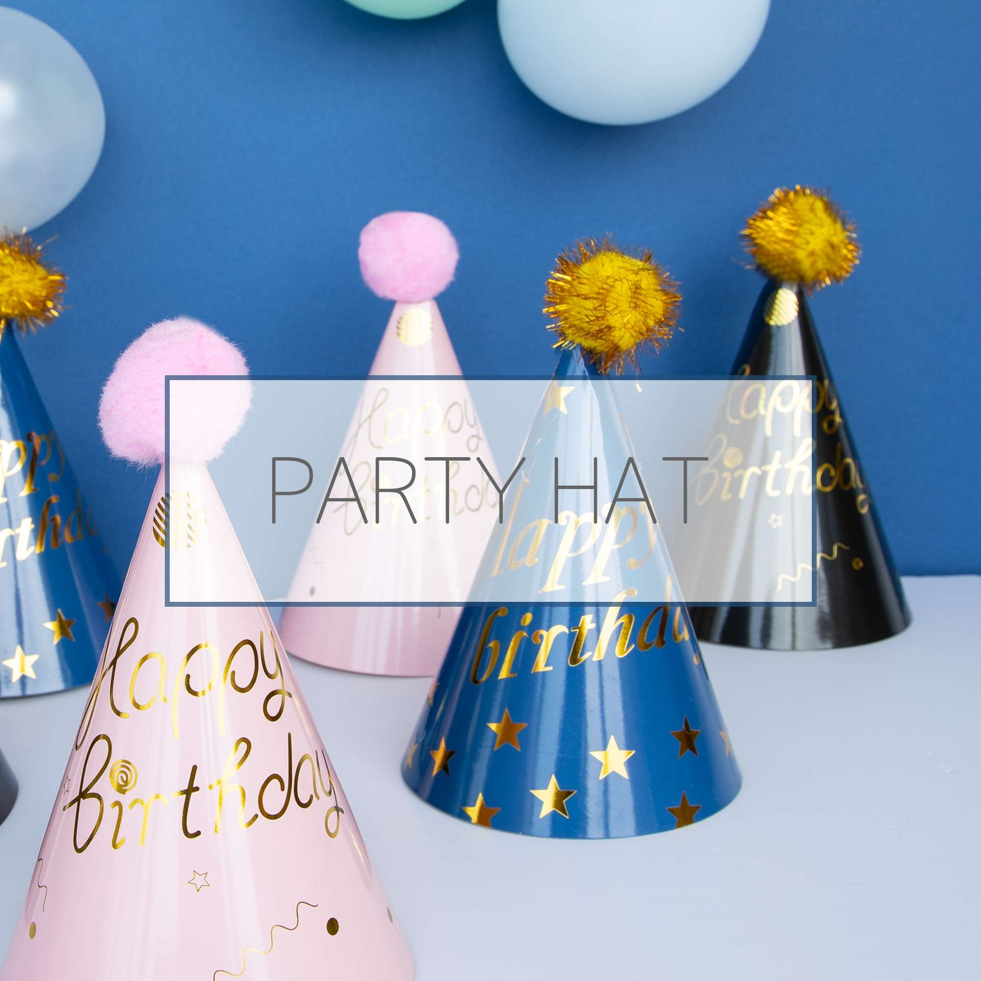 Party Hat - Colorful party hats for a birthday or any anniversary