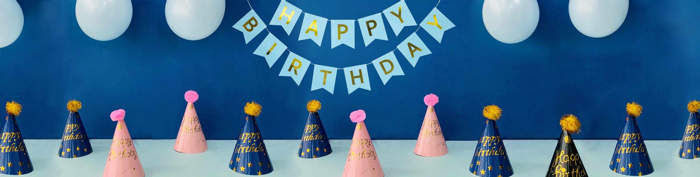 Tiệc sinh nhật Mũ x Banner tiệc sinh nhật Tổ chức một bữa tiệc vui vẻ