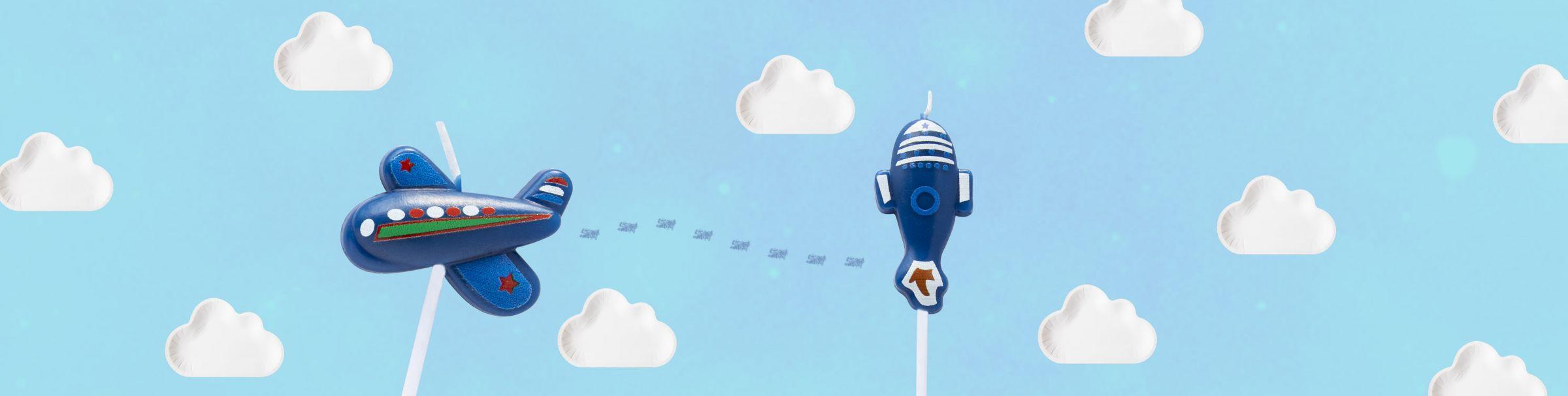 Sử dụng nến bánh máy bay Cầu mong ước mơ của bạn trở thành sự thật