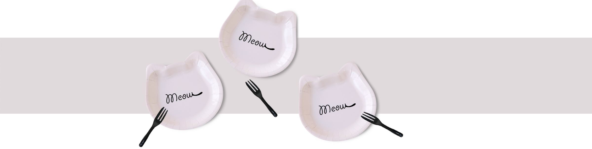 Cute Cat Cake Plate Hold a Lovely Party