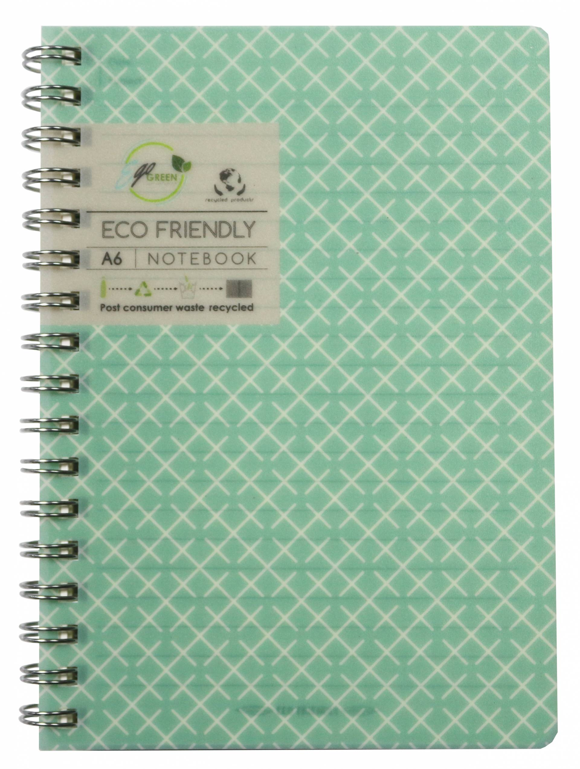 Recycled PP material A6 Spiral notebook