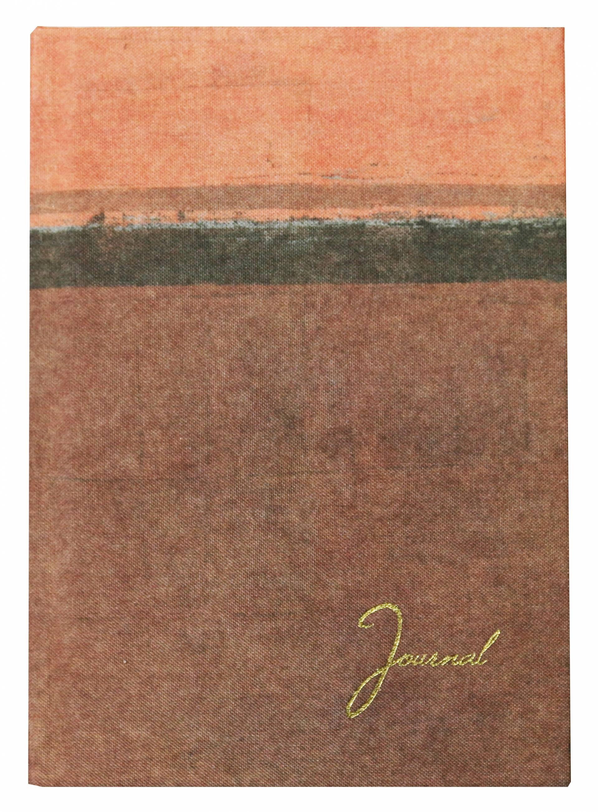 Journal relié par étui en tissu recyclé