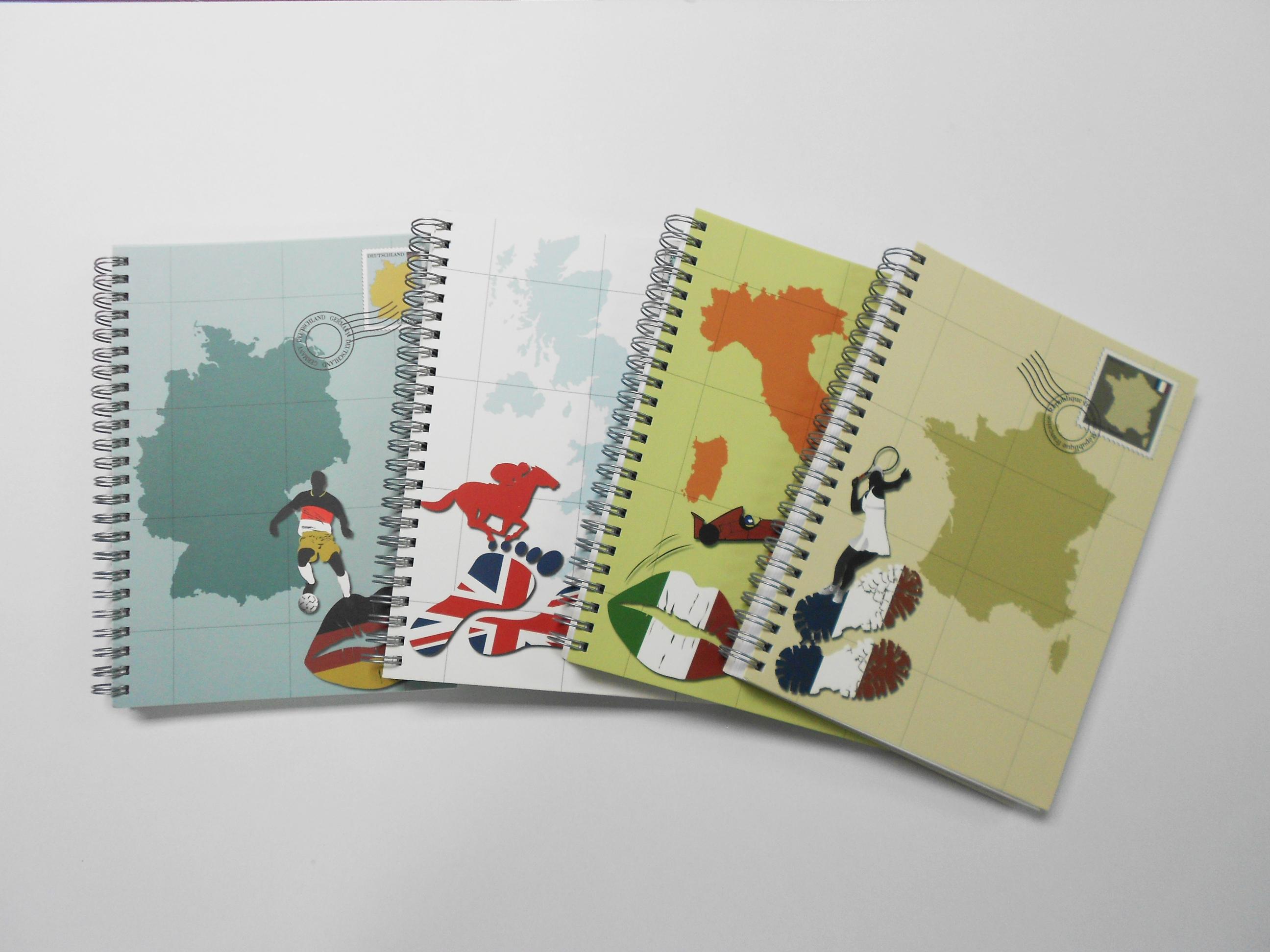 FSC Paper Spiral Notebook - FSC Paper Spiral Notebook