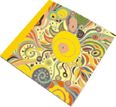 Кам'яний папір абстрактний живопис квадратний журнал - Кам'яний папір абстрактний живопис квадратний журнал