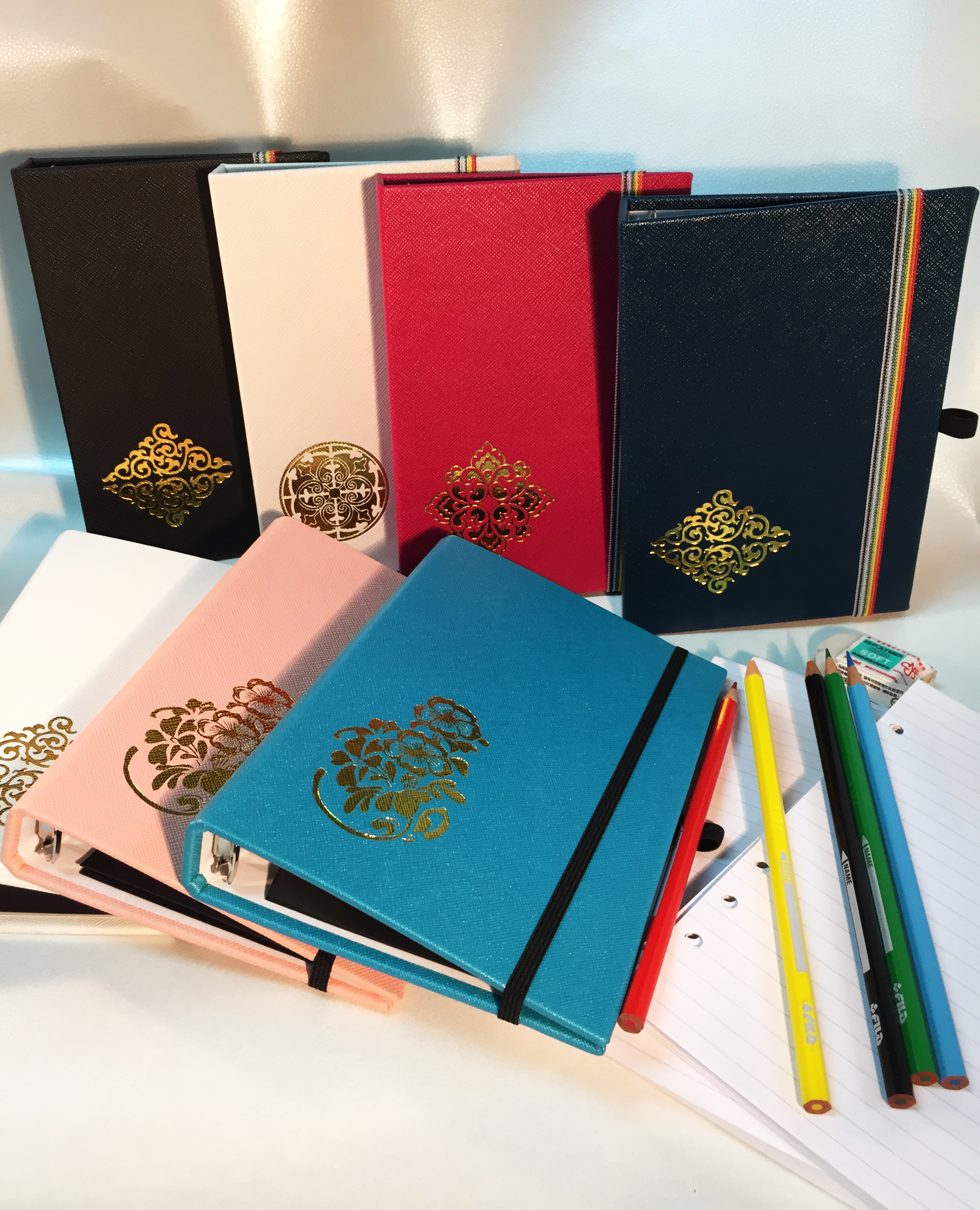 PU Leather Hot Stamp Golden Artwork Notebook - PU Leather Hot Stamp Golden Artwork Notebook