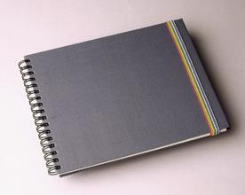 Effen stoffen schetsboek - Effen kleur zijden katoenen schetsboek
