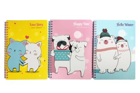 Cahier de notes autocollantes animaux