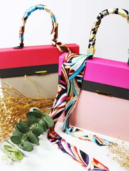Ensemble-cadeau de papeterie de sac à main de marque