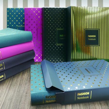 Folienprägetuch-Einband-Tagebuch-Geschenkset - Folienprägebuch Tuch Journal Geschenkset