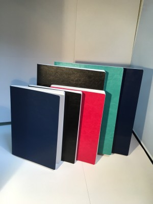 Completely flatten PU notebook/diary