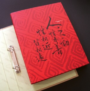 2 D-Ring Binder File- Serie di calligrafie cinesi