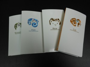 Diamond Embossing PP Synthetic Paper Spiral notebook Series 2