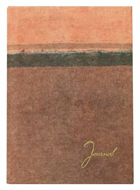 Tagebuch aus recyceltem Stoff mit Hüllen