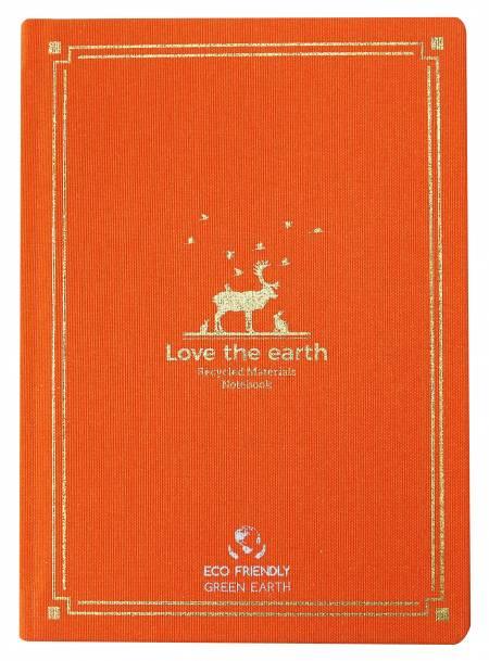 Tagebuch aus recycelter Seidenbaumwolle mit Heißfoliengrafik