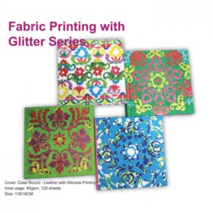 Fabric Printing with Glitter Notebook - Fabric Printing with Glitter Notebook