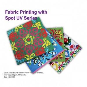 Журнал, скріплений футляром - друк тканин із серією точкового УФ