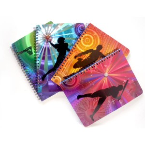 Foil Embossing Spiral Notebook