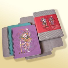 Set regalo per notebook di design orientale - Set regalo per notebook