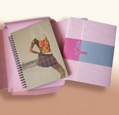 Modedesign-Notizbuch-Geschenkset