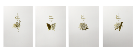 Gold Foil Nature Notebook