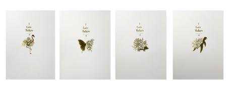 Natur-Notizbuch mit Goldfolie