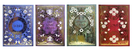 Goldenes wunderschönes Notizbuch